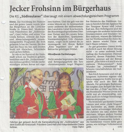 Dürener Zeitung vom 15.01.2013