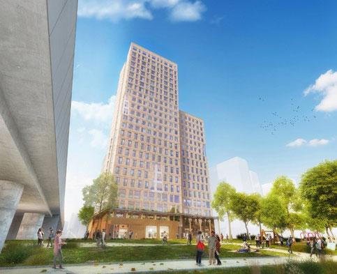 Holz-Hochhaus - Bauen mit Holz - Innovativ, ökologisch, energieeffizient.