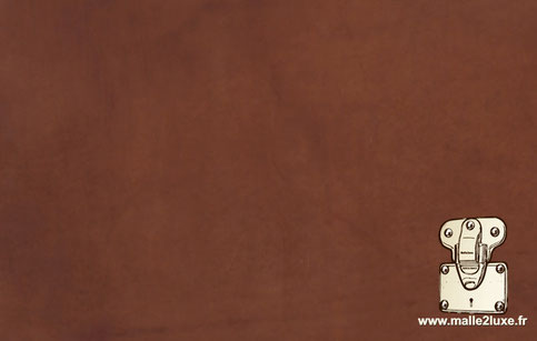 cuir vachette malle tannage végétale