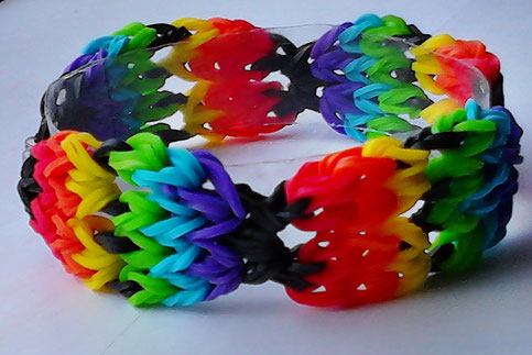 Rainbow Loom Armband my own Design