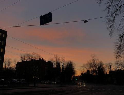 Sonnenuntergang in Riga
