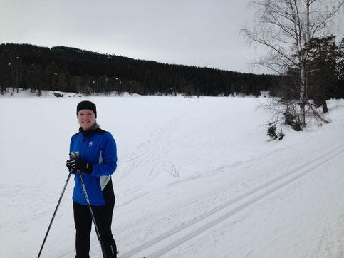 Tabea G. bei einer ihrer Skilanglauf-Touren