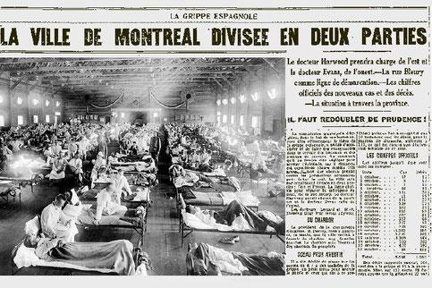 A Montréal, au plus fort de l'épidémie, on comptait un mort toutes les neuf minutes