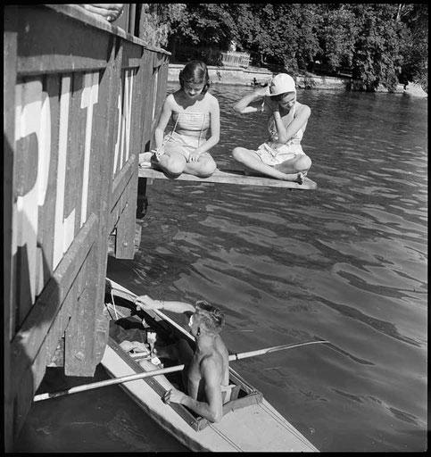 Seebad Tivoli, 1948. Foto Max A. Wyss, Quelle Stiftung Fotodok