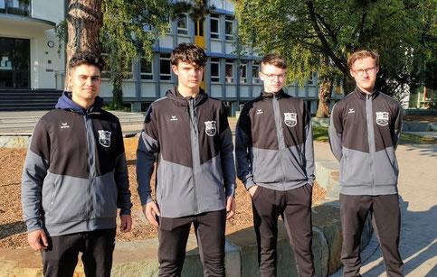 Ein Teil der J18-Mannschaft: v .l.: Filikci, Förthmann, Horchler & Rustemeier