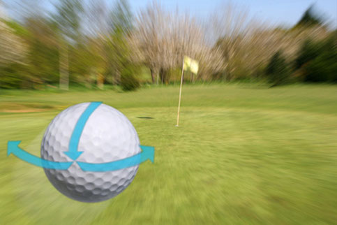 what is the sidespin on the golf ball