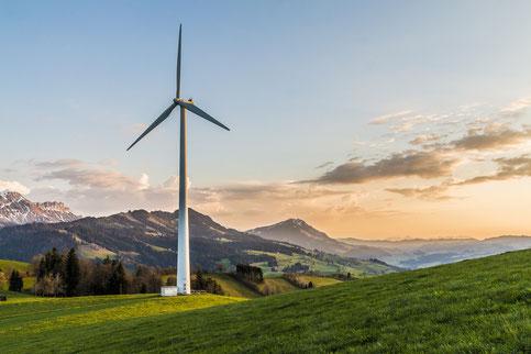 éolienne environnement energies renouvelables dechets eau montagnes plaine