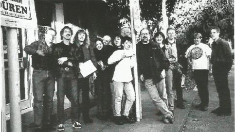 Left to Right: Wil, Thomas, Karin, Jenny, Wolfgang, Christiane, Nigel, Iris, Reinhard, Angela, Thomas A, Michael.  Photo: Erika Dahms