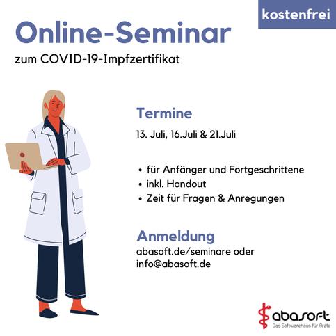 Impfzertifikat Praxisverwaltung Praxissoftware EVA Austausch Online Seminar kostenfrei