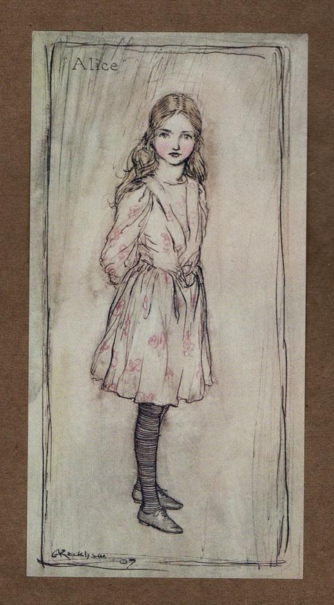 アーサー・ラッカムによるアリスのイラストレーション