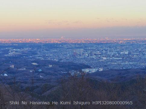 ビーナスベルトと地球影(高尾山より)