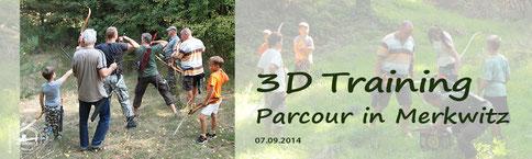 Button - 3D Training, Parcour in Merkwitz 2014
