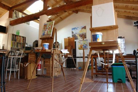 - het atelier voor workshops schilderen en tekenen -