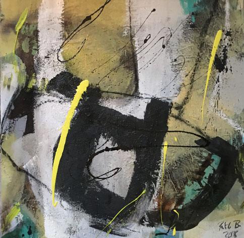 Abstrakte Kunst - Bild klärende Gespräche