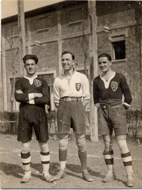 1924-25 da sx:Rabaglio,Cerruti e Re