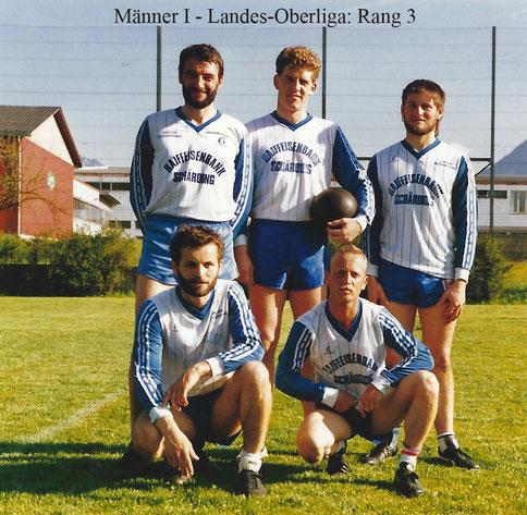 Sportunion Schärding Faustball Landes Oberliga 3. Rang der 1. Männermannschaft