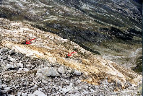 Bergbau Surettatal. Sufers, Rheinwald.