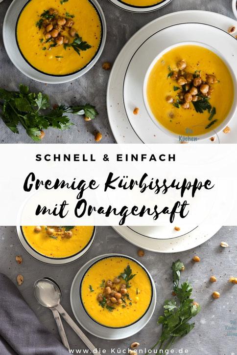 Cremige Kürbissuppe mit Orangensaft