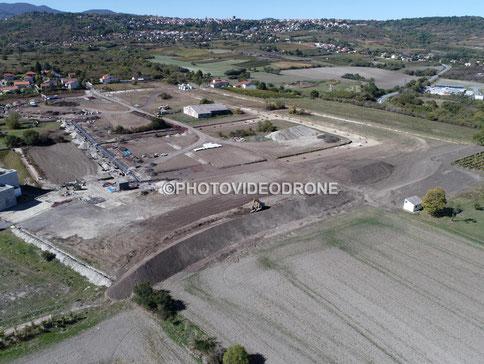 Photo et vidéo en drone des travaux d'un lotissement à Ennezat Puy-de-Dôme -Photovideodrone