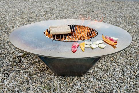 Grillring grillieren Edelstahl / Chromstahl