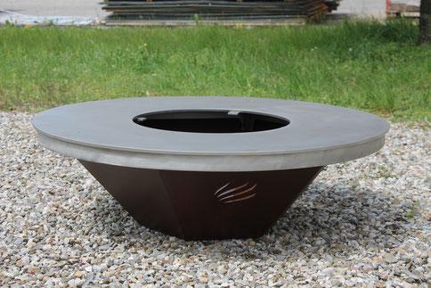 Grillring moderne Feuerstelle Edelstahl