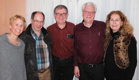 Kreisvorstand (von links) Silke Keil, Ulrich Spitzmüller, Frank Leonhardt, Reinhard Reck mit der DJV-Landesvorsitzenden Dagmar Lange Foto: KV Offenburg/Ortenau