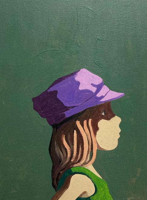 purple cap - Acryl auf Leinwand, 40x30cm, 2020