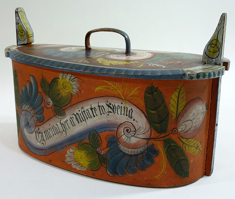 Scandinavian folk art bread box