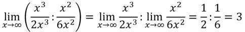 Beispiel der Limes Quotientenregel