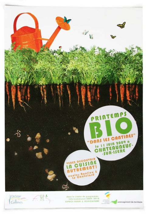 graphisme et photo affiche du printemps bio