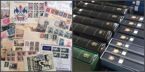 vente spéciale de collections de timbres et de lettres