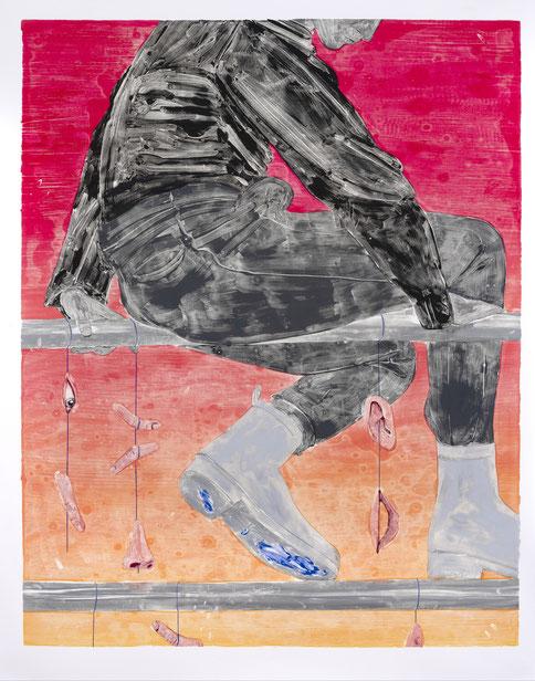 Monotype, oil color on paper, 152,4 x 120 cm, 2018
