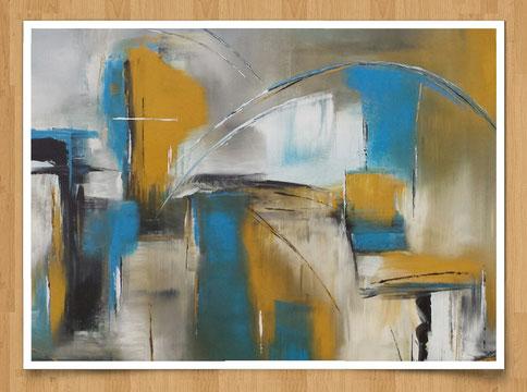 Stadtleben  80 x 60cm -  Acryl auf Leinwand  -verkauft-