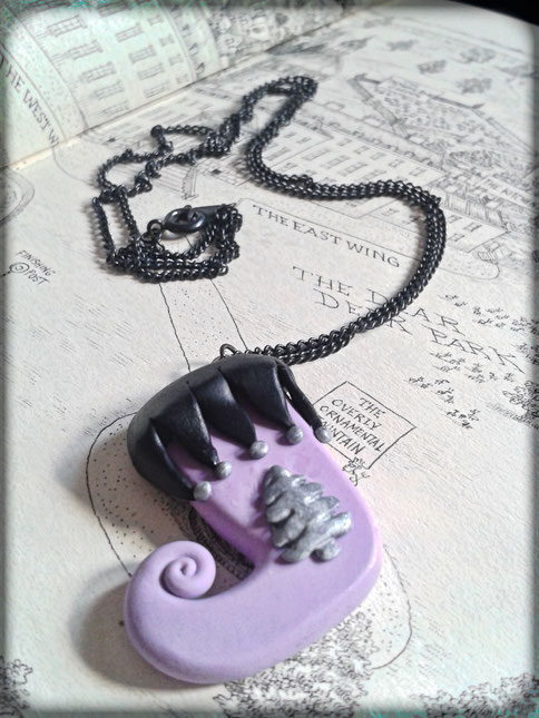 Pastel Goth Christmas Stocking Necklace