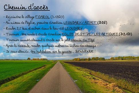chemin d'accès consultations Fleurs de Bach Du Bourgeon à La Fleur Montespan Haute Garonne Occitanie