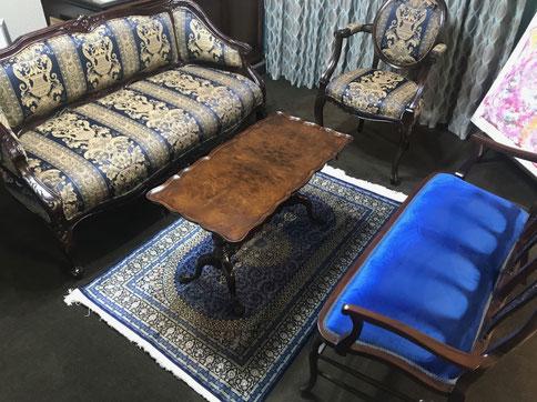 QUM silk ザロニムサイズ 青がテーマの応接室 MERSAD YARI工房の素敵なお品をお選びi頂きました。