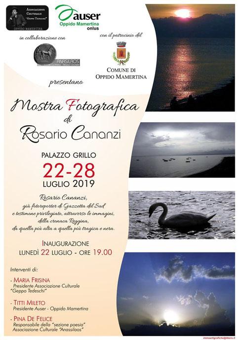 Oppido Mamertina - Mostra fotografica di Rosario Cananzi. 22-28 luglio 2019