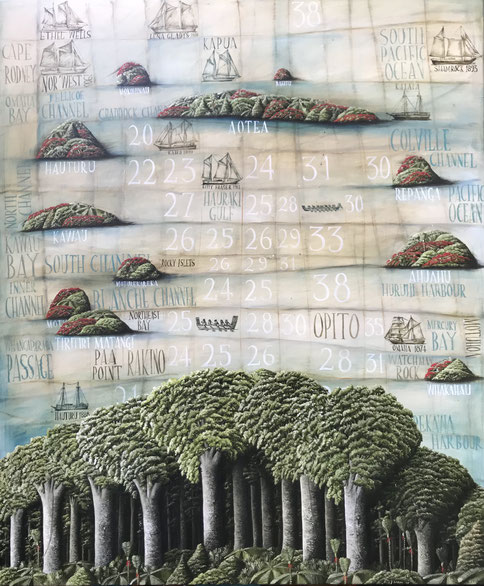 'Hauraki Gulf' 100 x 120 cm, Oil on canvas, 2021