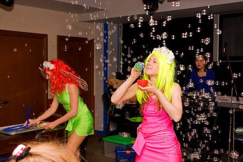 шоу мыльных пузырей на детский день рождения ребенка