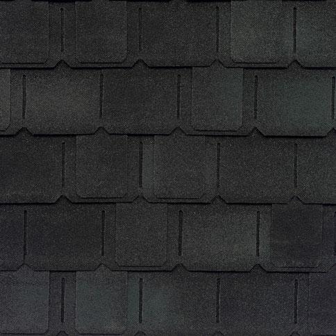 na zdjęciu gont marki GAF model Camelot 2 w kolorze Charcoal