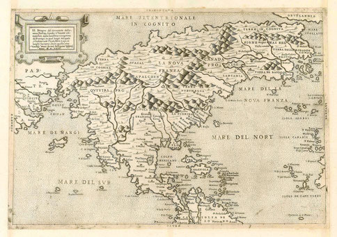 North America, Forlani-Zaltieri, 1566. Source : Sanderus Antiquariaat