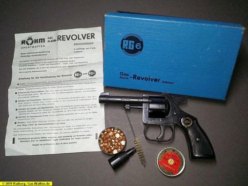 Gas-Waffen, Gaswaffen, Schreckschusswaffen, Röhm RG6, Gas-Revolver, Gaswaffen ohne PTB