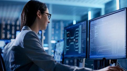 システム運用業務のイメージ。