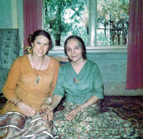 Vesta with Mehera Irani at Meherazad, India