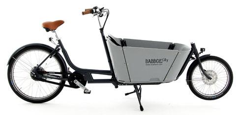 Babboe City Mountain Lasten e-Bike, Lastenfahrrad mit Elektromotor, e-Cargobike 2017