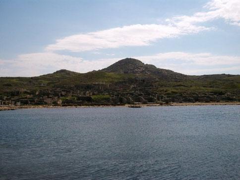 Vue de Délos Grèce