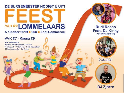 Dirk Van Bun Communicatie & Vormgeving - Grafische vormgeving - reclame - publiciteit - Lommel - Affiche Feest van de Lommelaars