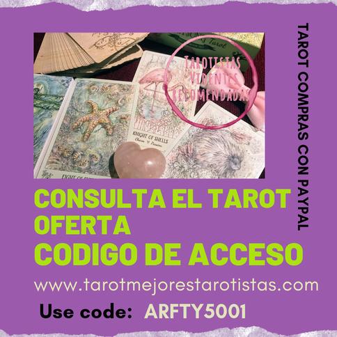 Tarot compras por paypal,oferta Código de Acceso use code:  ARFTY5001