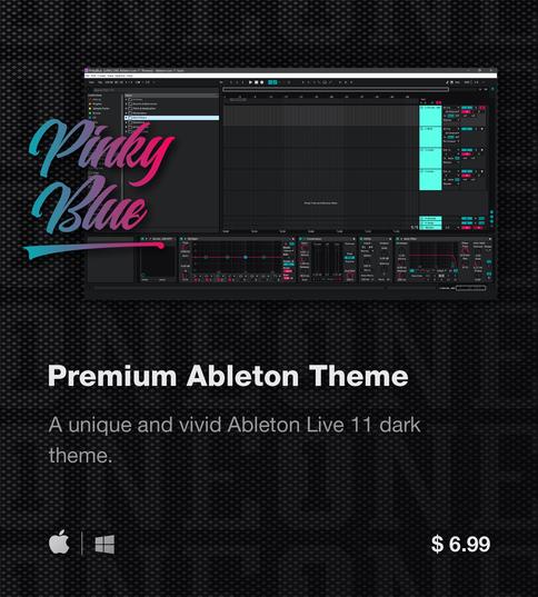 Ableton Live 11 theme PinkyBlue