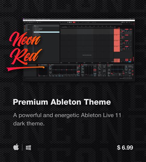 Ableton Live 11 theme NeonRed